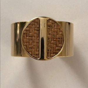 NWOT gold cuff bracelet with woven detail